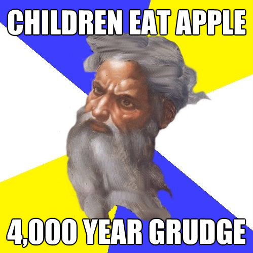 children eat apple 4000 year grudge - Advice God