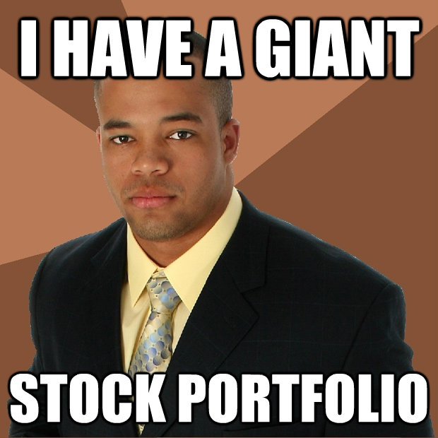 i have a giant stock portfolio - Successful Black Man