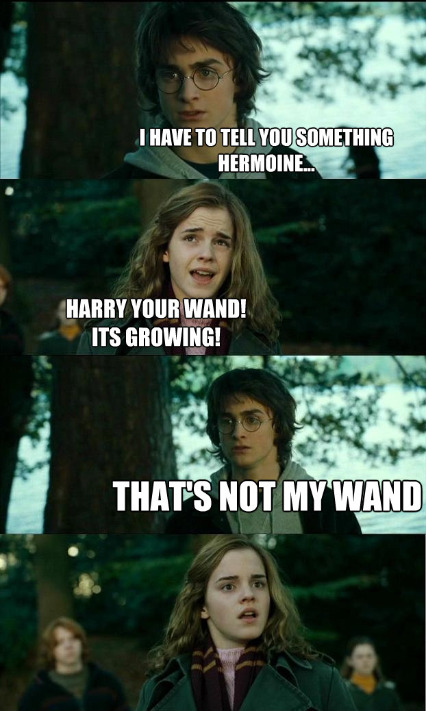 i have to tell you something hermoine harry your wandit - Horny Harry