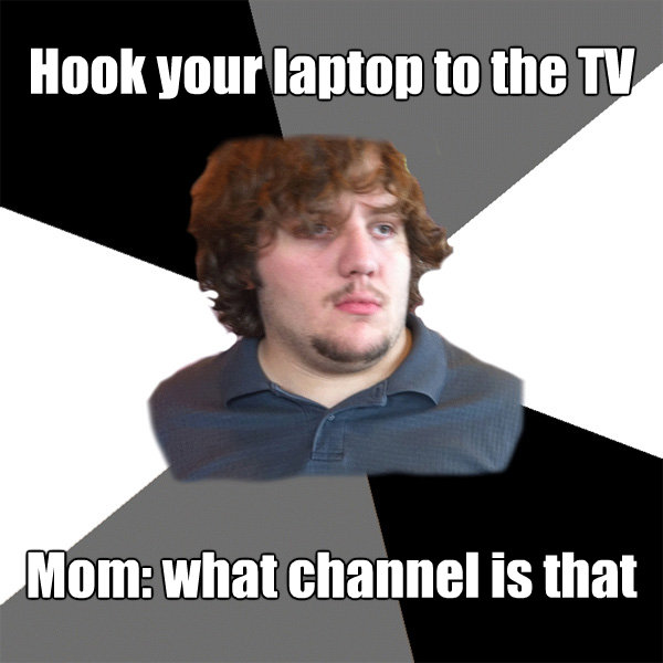hook your laptop to the tv mom what channel is that - Family Tech Support Guy