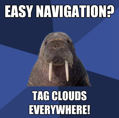 easy navigation tag clouds everywhere - Web Developer Walrus