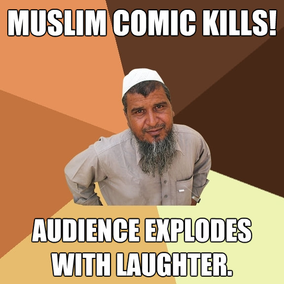 muslim comic kills audience explodes with laughter - Ordinary Muslim Man