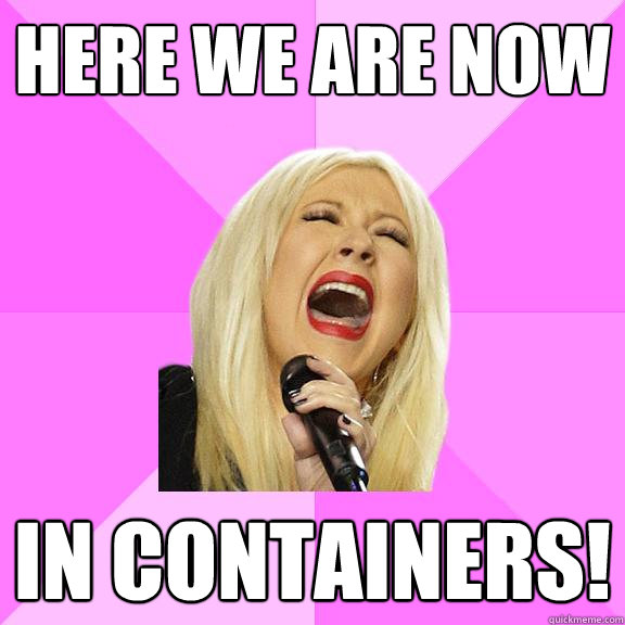 here we are now in containers - Wrong Lyrics Christina