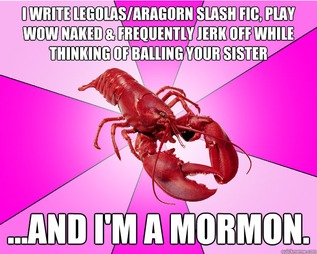 i write legolasaragorn slash fic play wow naked frequent - Long-term relationship Lobster