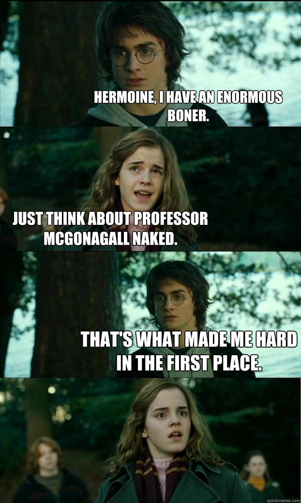 hermoine i have an enormous boner just think about profess - Horny Harry
