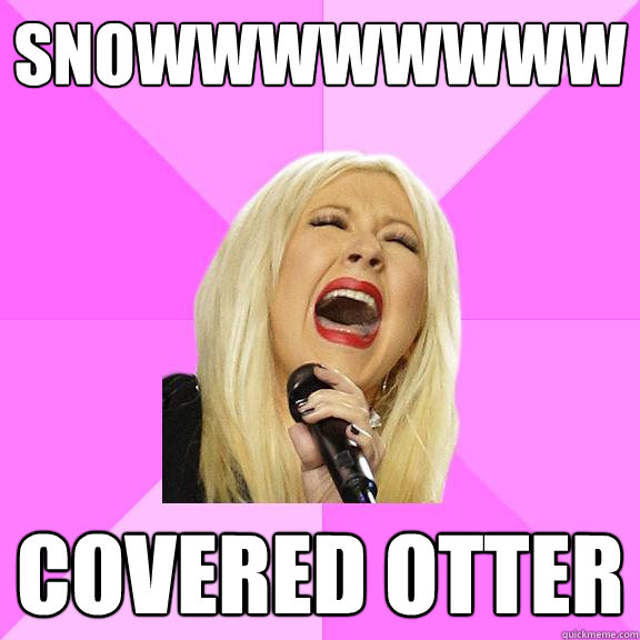snowwwwwwww covered otter - Wrong Lyrics Christina