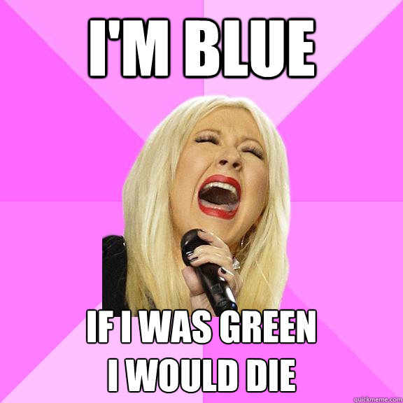 im blue if i was green i would die - Wrong Lyrics Christina