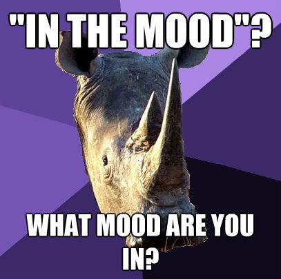 in the mood what mood are you in - Sexually Oblivious Rhino