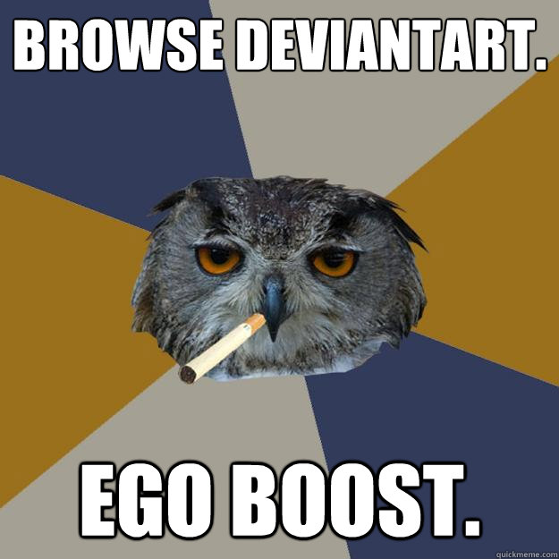 browse deviantart ego boost - Art Student Owl