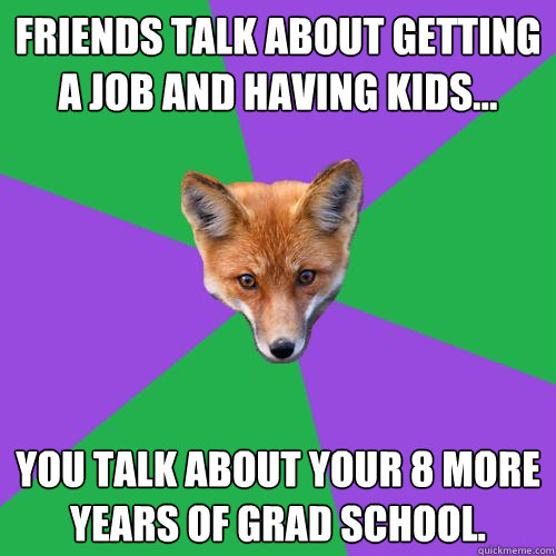 friends talk about getting a job and having kids you talk - Anthropology Major Fox