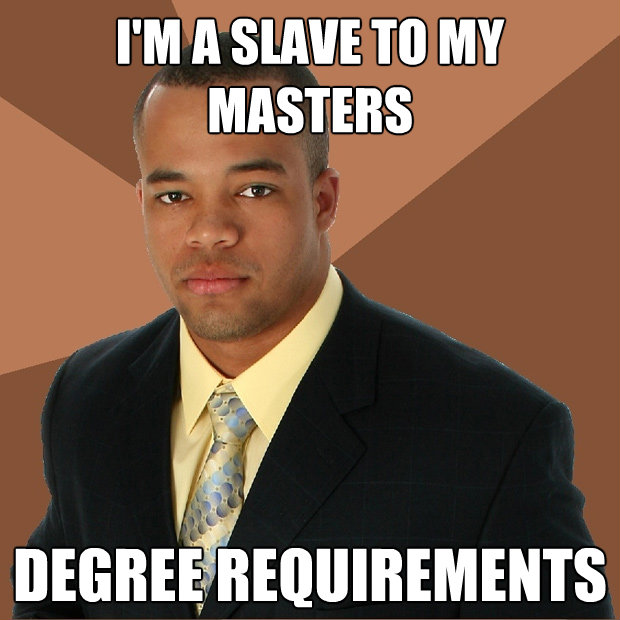 im a slave to my masters degree requirements - Successful Black Man